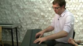 Roland Lamb plays his Seaboard keyboard