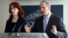 Former US diplomat Richard Haass and Prof Meghan O'Sullivan