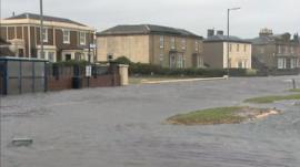 Flooding in Ardrossan