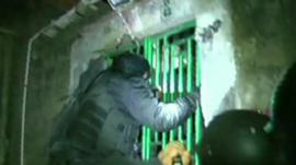 Police raid a home