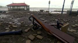 Aberystwyth storm damage
