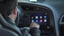 General Motors connected car screen