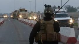 Iraqi government forces on the way to Anbar province