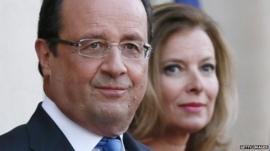 French President Francois Hollande and his partner Valerie Trierweiler