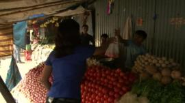 Indian fruit and vegetable stall