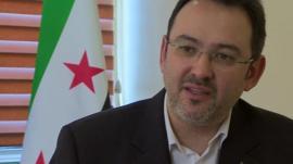 Khaled Saleh, spokesman for the National Coalition