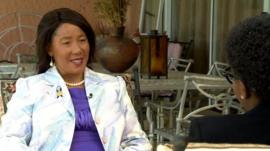 Makaziwe Mandela, the daughter of former South African President Nelson Mandela