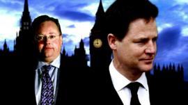Lord Rennard and Nick Clegg