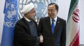 United Nations Secretary-General Ban Ki-moon and Iran