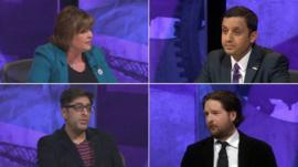 Fiona Hyslop MSP, Anas Sarwar MP, Sanjeev Kohli and Alex Massie