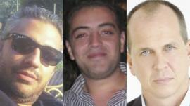 Mohammed Fahmy, Baher Mohamed and Peter Greste, the al-Jazeera journalists detained