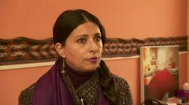 Afghan businesswoman Hassina Sherjan