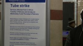 Tube strike poster