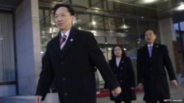 Lee Duk-Haeng and South Korean delegation