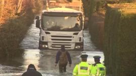 Julian Green faces down a milk tanker