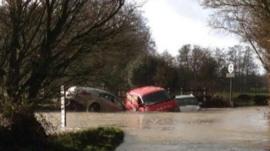 Floods in Much Hadham