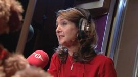 Victoria Derbyshire in radio studio