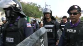 Police in central Bangkok take control