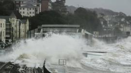 Storm-lashed coastal development