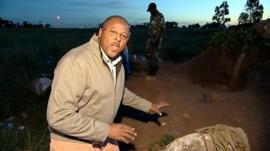 Milton Nkosi at the rescue site