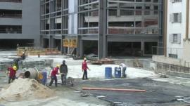 Construction work at the Arena da Baixada in Curitiba
