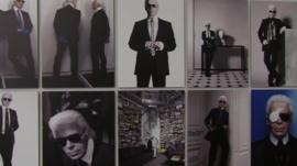 Various pictures of Lagerfeld