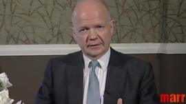 Foreign Secretary William Hague on the Andrew Marr Show