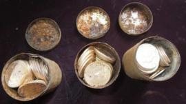 The coins, shown in a photo distributed by Kagin's