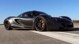 A Venom GT is a Lotus Exige with a modified chassis and a 7.0 litre twin turbo engine
