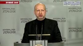 Acting Ukrainian President Oleksander Turchynov