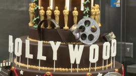 Hollywood Oscars cake