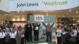 John Lewis staff find out their bonus will be 15%