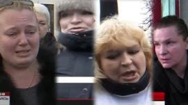 Images of four women on Ukrainian social media