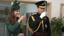 The Duke and Duchess of Cambridge have a tipple