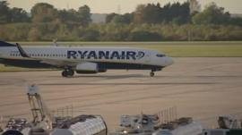 Ryanair plane at Stansted