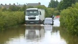 Croston during the flooding