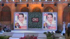 OK! Pakistan's launch party display