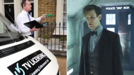 TV licensing van and Matt Smith