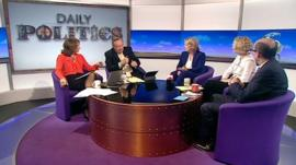 Jo Coburn, Andrew Neil, Anna Soubry, Emma Reynolds and Nick Robinson