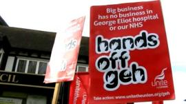 Anti-privatisation protest placard