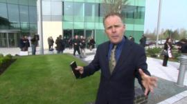 Angus Crawford outside the special court