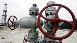 View of a gas derrick in Ukraine