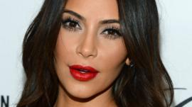 US reality TV star Kim Kardashian