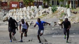 Runners in Montserrat