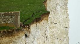 Cracked cliffs at Birling Gap