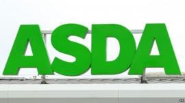 Sign at an ASDA supermarket