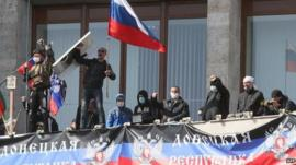 Pro-Russia protestors