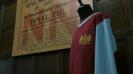Burnley shirt and poster of 1914 FA Cup Final