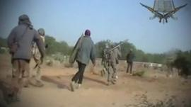 Boko Haram members with weapons