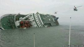 Capsized ferry